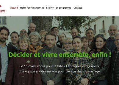 page accueil du site web de la fabrique citoyenne