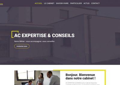 page accueil site web cabinet AC expertise et conseils