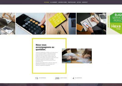page accueil du site web cabinet AC expertise et conseils