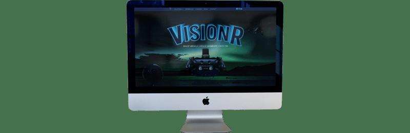 mockup du site web de la société Vision R