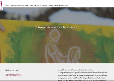 page accueil du site web ensemble et differents
