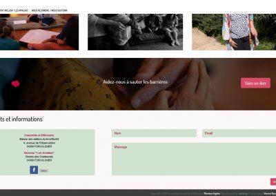 une page du site web ensemble et differentss