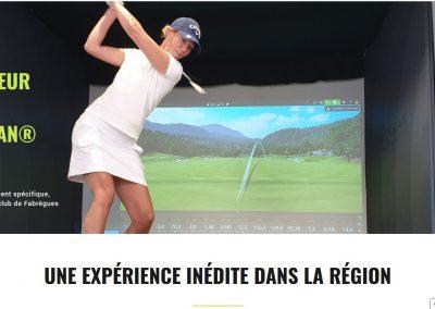 femme qui swingue sur lesite web du golf de fabrègues
