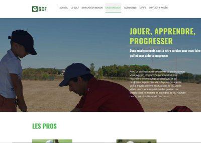 practice du site web du golf de fabrègues