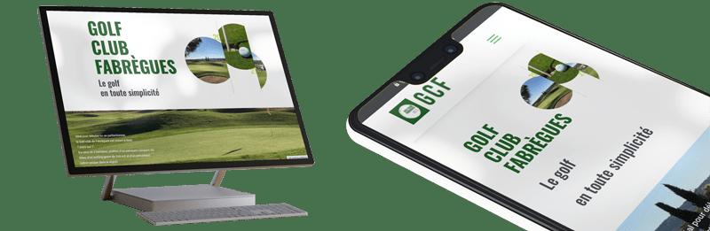 mockup site web du golf de fabrègues