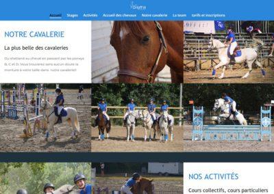 page d'accueil du site web du centre équestre de Marseille Orloff 3