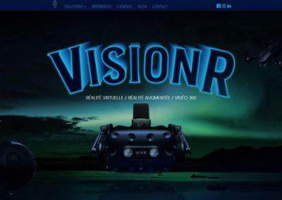 page accueil du site web Vision R