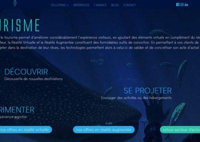 une page du site web de la société Vision R