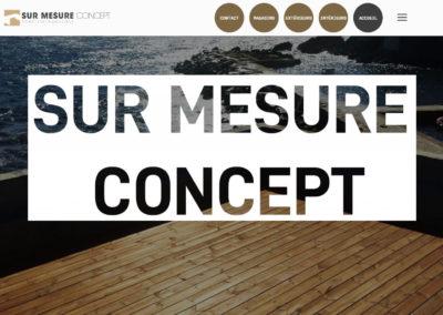 site internet sur mesure concept Nîmes - page d'accueil