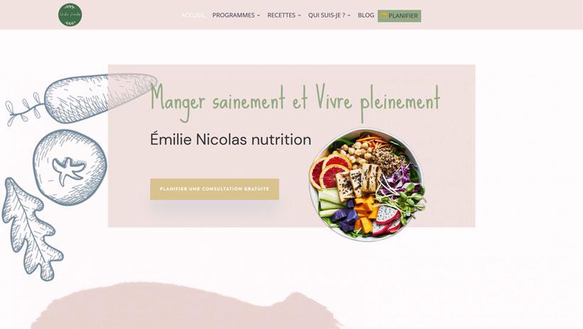 emilie-nicolas-nutrition-capture ecran accueil haut